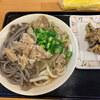 Kirin - 料理写真:肉うどん&蕎麦のMIX&イイダコ天