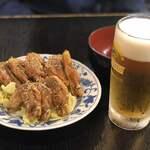 小天狗 - 料理写真:手羽先と生ビール
