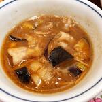 ふく福 - 黒豚つけ麺(つけ汁)