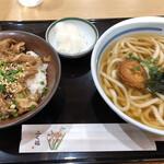 ふく福 - 小丼セット(黒豚丼)