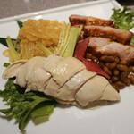 中国料理 南園 - 前菜の3種盛り