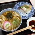 123132860 - 鯖寿司うどんセット