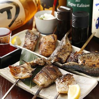 当店自慢◎旨味が凝縮された、アツアツの魚串焼きをご堪能あれ!
