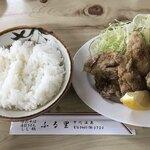 ふる里 - 唐揚げ定食☆白米は柔らかめです