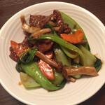 123150911 - 菜遠牛肉(季節野菜と和牛肉炒め)