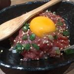 高槻肉寿司 - 塩ユッケ740円