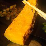 鉄板焼キュイジーヌ バンブー グラッシィ - 南瓜の分厚さにビックリしました(笑)