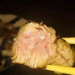 鉄板焼キュイジーヌ バンブー グラッシィ - 肉自体の味は薄めですが、肉質は良かったです。焼き方が肉汁を閉じ込める様な感じでしたから噛むと中がレアで肉汁が口の中に溢れて来て なかなか良かったです。