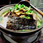 NAGAZUYA - 野菜ラーメン+チャーシュー!(2012,03/31)