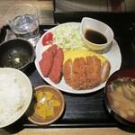 沖縄時間 - とんかつポーク玉子定食