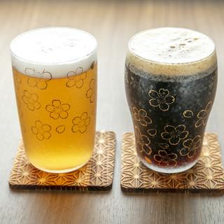 キレイなグラスでビール&日本酒がより美味い