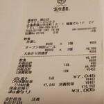 個室 四国郷土活性化 藁家88 - レシート(2020.01.08)