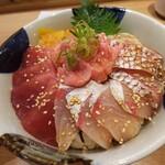 123194113 - ランチ海鮮4色丼 (ばちまぐろ・ねぎとろ・カンパチ・真鯛)