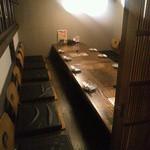 完全個室居酒屋 もつ鍋 食べ飲み放題 のりを - 中二階のような席