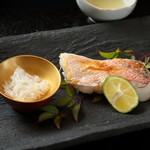 饗応 元 - 甘鯛(ぐじ)の塩焼き