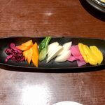 月とすっぽん - 料理写真:お新香の盛り合わせ ¥390