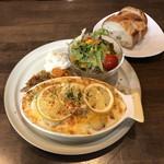 カフェと海遊び Sunny Season - ホタテとレモンのグラタンプレート
