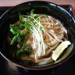 讃岐製麺 - 菜の花と蒸し鶏のあっさり胡麻うどん(並)