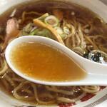 123213564 - しょうゆラーメンのスープ
