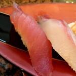 回転鮨 錦 - 並握り5貫の生マグロ