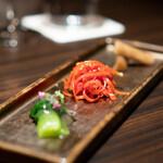 焼肉うしごろ - ゴボウのナムル 京人参のきんぴら 姫青梗菜のお浸し