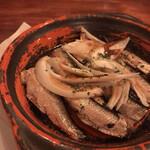 厨房酒場 カモメセラー - #食べログ的に撮るとこうなる。岸田劉生の絵のようである。