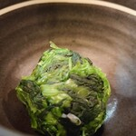 紫蔵 - 追加トッピングのほうれん草は別皿で。