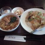 上海屋 - 五目中華飯&半ラーメン 900円