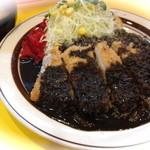 キッチンABC - 名物黒カレーでおなじみのサクサクチキンカツカレー(スープ付)