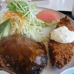 べるみ - ハンバーグと白身魚フライ