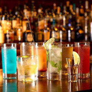 【飲み放題】バーならではの、種類豊富なお酒が揃います!