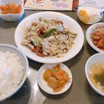 龍鳳園 - 回鍋肉ランチセット