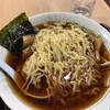 磐梯山サービスエリア(下り線)スナックコーナー - 料理写真:倍盛り喜多方醤油らーめんの麺