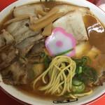 123266311 - 特製 大盛 中華そば ( ´θ`) 井出商店 麺ミセ