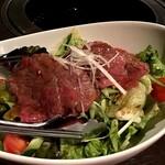 BeefGarden - 10種の野菜と黒毛和牛のローストビーフサラダ