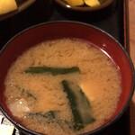 とんかつ きたき - 味噌汁