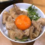 肉玉そば おとど - (セルフ)ごはん+焼肉+卵黄+ネギ 2020.1.5