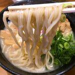 肉玉そば おとど - 麺 2020.1.5