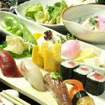 すし屋の源 - 料理写真:【コース一例】 メインのお寿司の他、旬の食材をふんだんに使った和食の数々。荻窪だから、このお値段でご提供します!