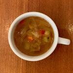123290681 - 十六穀米タコライス(アルコールセット) ¥1,600 のスープ