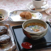サロン・ド・懐古 - 会津の伝統料理 和風スープセット(しんごろう) 1000円