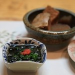 寿し膳かのこ - ナマコ酢:よく冷えた生beerとまず一杯!