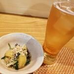 和食ながい - お通しとノンアルビール