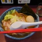 麺藤田 - 料理写真:味玉肉盛り太麺濃い白湯
