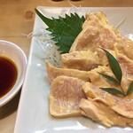 大須亭 - 黄色スペシャルバージョン(胸肉の芥子和え、辛子マシマシ)