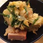 大須亭 - ハムカツの卵とじ