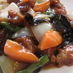 点心楼 台北 - 良い意味で、予想を裏切らない定番酢豚の味。お肉も野菜も多めなのがいいですね♪