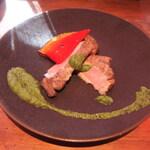 Terrace Dining TANGO - ちび注文のメイン 産地失念豚肉グリル