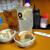つるかめ食堂 - 酎ハイ450円、ウーロンハイ450円、お通し350円