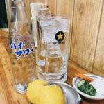 ばん - レモンサワー[400円]と無料お通しのぬか漬け
